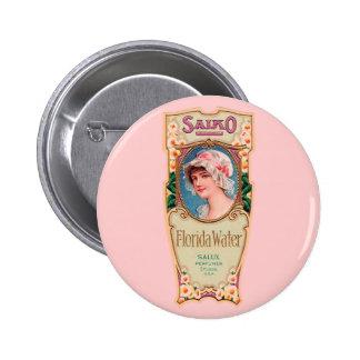 Vintage Salko Florida Water Perfume Label 6 Cm Round Badge