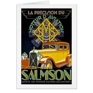 Vintage Salmson Automobile Ad Greeting Card