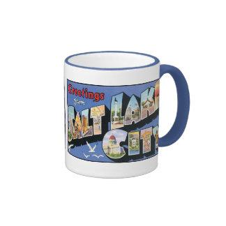 Vintage Salt Lake City Postcard Mug