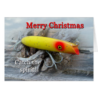 Vintage Saltwater Fishing Lure Christmas Card