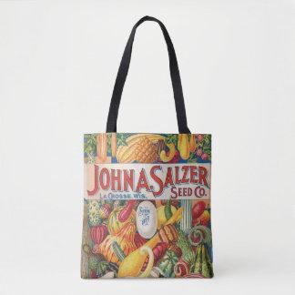 Vintage Salzer Seed Catalog Vegetables Tote Bag