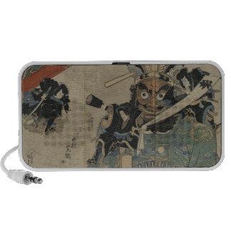 Vintage Samurai with a Torch circa 1825 iPod Speaker