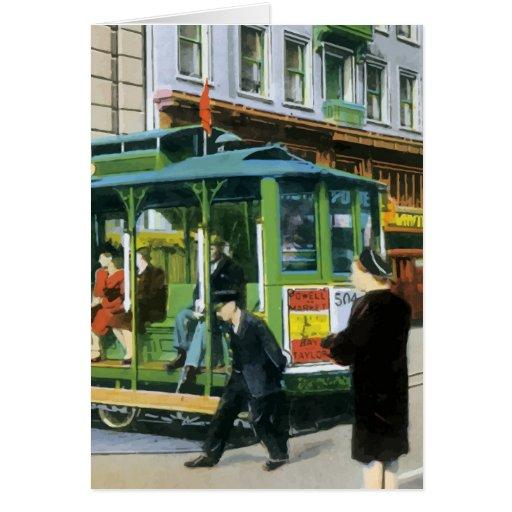 Vintage San Francisco Cable Car Card