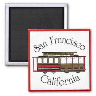 Vintage San Francisco Cable Car Refrigerator Magnets