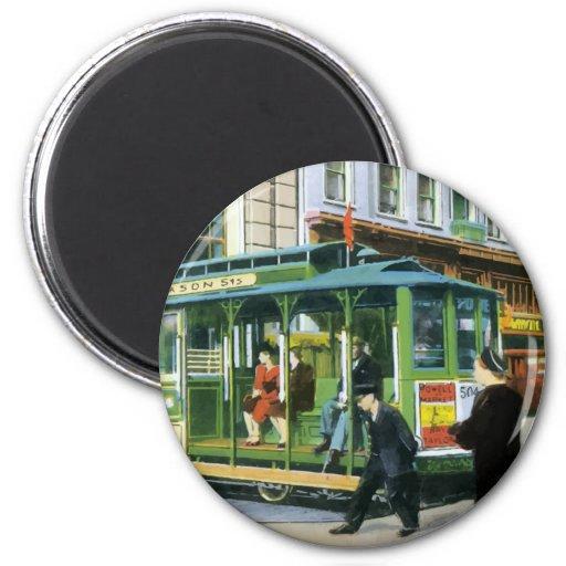 Vintage San Francisco Cable Car Refrigerator Magnet