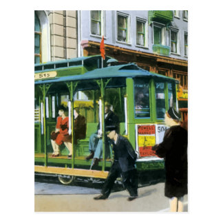 Vintage San Francisco Cable Car Post Card