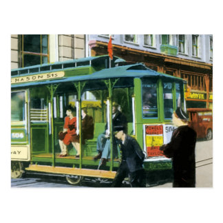 Vintage San Francisco Cable Car Postcard