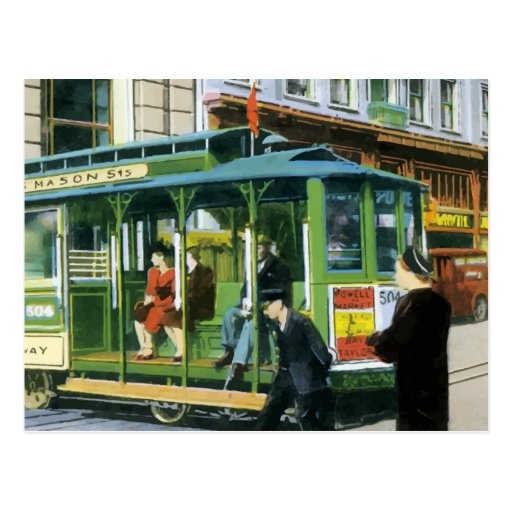 Vintage San Francisco Cable Car Post Card