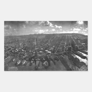 Vintage San Francisco Panoramic Photograph (1902) Rectangular Sticker