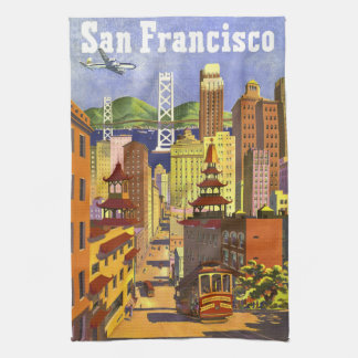 Vintage San Francisco Tea Towel
