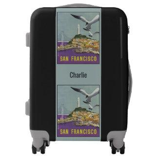 Vintage San Francisco USA custom name luggage
