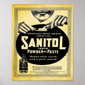 Vintage Sanitol Tooth Powder Or Paster Print