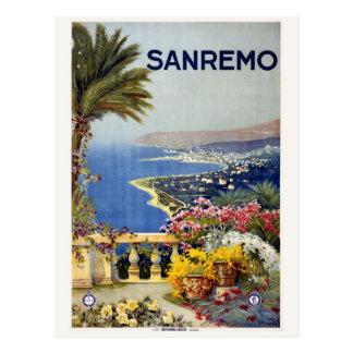 Vintage Sanremo Italy postcard