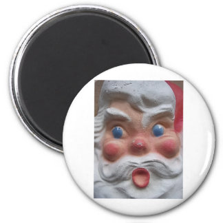 Vintage Santa 6 Cm Round Magnet