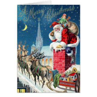Vintage Santa at Christmas Card