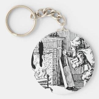 Vintage Santa Bringing Toys Key Chain