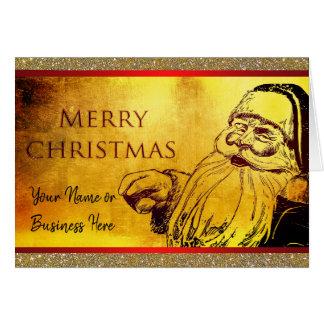 Vintage Santa Christmas Business Family Card
