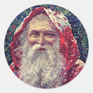 Vintage Santa Christmas Envelope Stickers