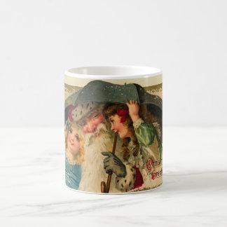vintage santa christmas mug