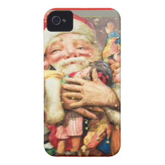 vintage-santa-christmas-post-cards-0004 iPhone 4 Case-Mate cases