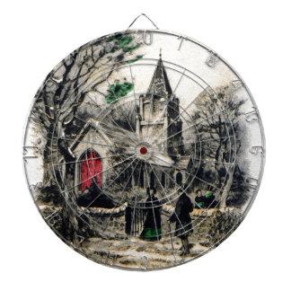 vintage-santa-christmas-post-cards-0005 dartboard