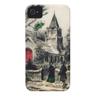 vintage-santa-christmas-post-cards-0005 iPhone 4 Case-Mate cases