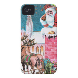 vintage-santa-christmas-post-cards-0011 iPhone 4 covers
