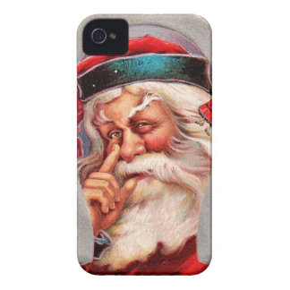 vintage-santa-christmas-post-cards-0017 iPhone 4 Case-Mate cases