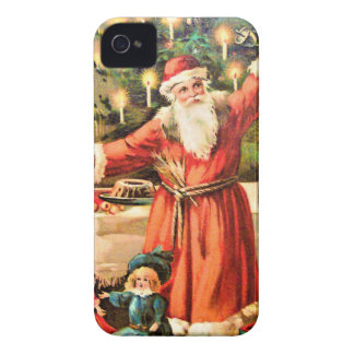 vintage-santa-christmas-post-cards-0018 iPhone 4 covers