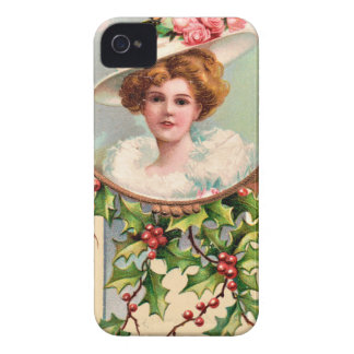 vintage-santa-christmas-post-cards-0019 iPhone 4 cases