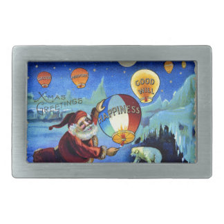vintage-santa-christmas-post-cards-0025 rectangular belt buckle