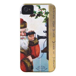 vintage-santa-christmas-post-cards-0027 iPhone 4 case