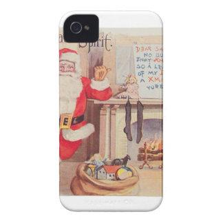 vintage-santa-christmas-post-cards-0355 iPhone 4 case
