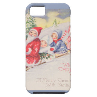 vintage-santa-christmas-post-cards-0390 iPhone 5 cover