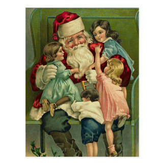 Vintage Santa Christmas Postcards