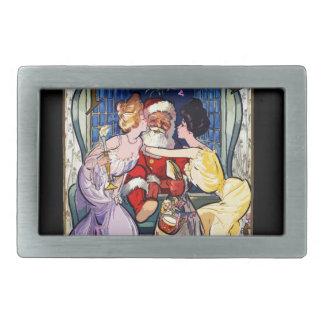 Vintage Santa Claus Belt Buckle