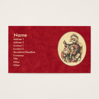 Vintage Santa Claus Business Card