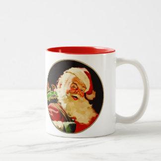 Vintage Santa Claus Christmas Gift Mugs