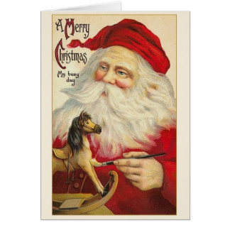 Vintage Santa Claus Christmas Greeting Card