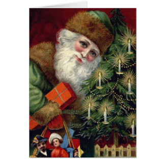 Vintage Santa Claus Christmas Note Cards