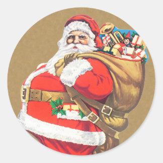 Vintage Santa Claus Christmas sticker
