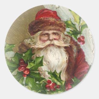 Vintage Santa Claus Christmas Stickers