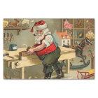 Vintage Santa Claus Christmas Workshop Tissue Paper