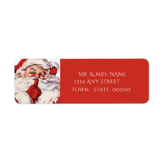 Vintage Santa Claus, Custom Return Address Label