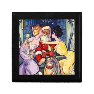 Vintage Santa Claus Gift Box