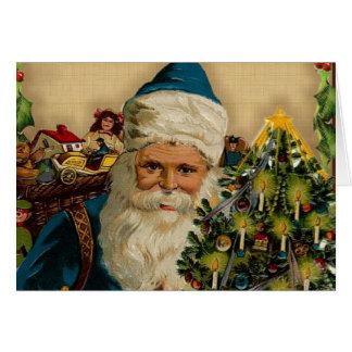 Vintage Santa Claus- Happy Holidays: Greeting Card