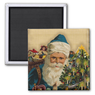 Vintage Santa Claus- Holiday Wishes: Magnets