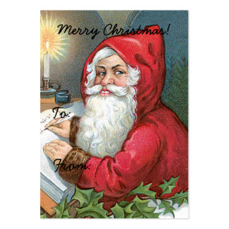 Vintage Santa Claus Image Gift Tag Pack Of Chubby Business Cards