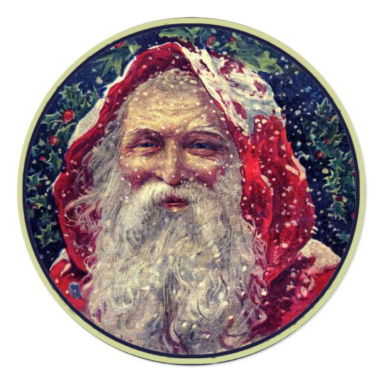 Vintage Santa Claus Invitation
