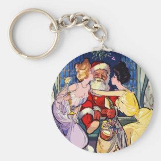 Vintage Santa Claus Key Ring